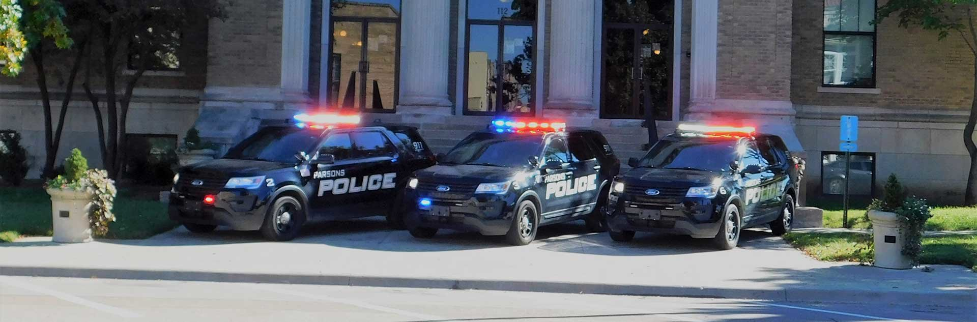 Parsons Police Department Vehicles